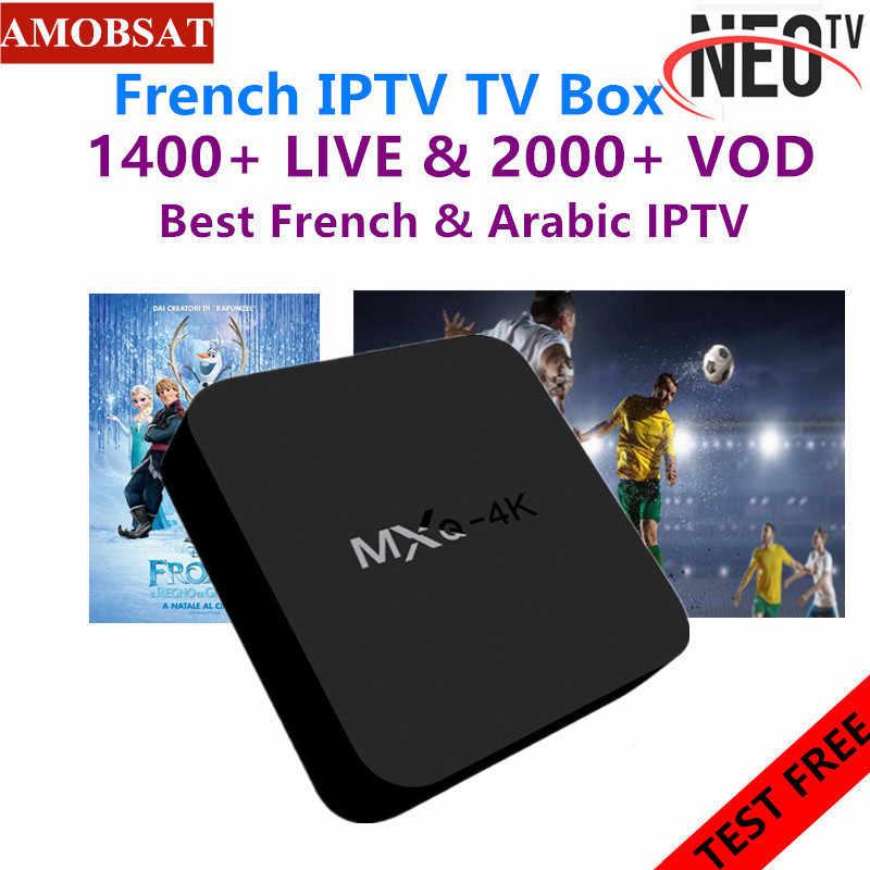 Neotv pro 4K français IPTV abonnement arabe Europe belgique royaume-uni IPTV code néo un an LiveTV VOD M3U MAG Android Smart TV Box