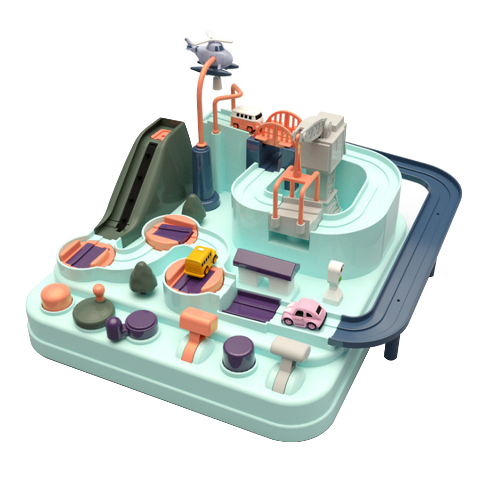 Track Table Games ABS Car Adventure Toy Competition Vehicles Manipulative Rescue Squad Educational Macaron Color Simulation Gift
