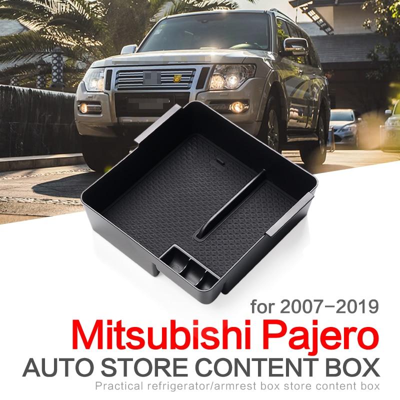 ZUNDUO автомобиль Подлокотник ящик для хранения центральной консоли для Mitsubishi PAJERO V93 V97 V98 2007 - 2019 аксессуары контейнер стайлинга автомобилей