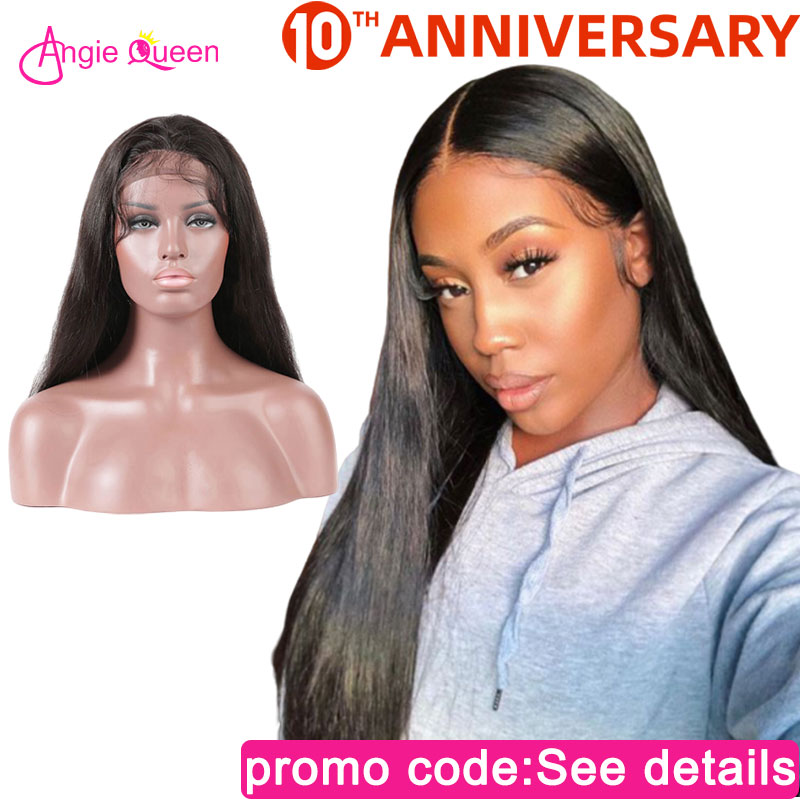 Straight Lace Front Human Hair Wigs Peruvian Hair 13*4 Lace Closure Wig Remy Hair 120/130/150% Lace Closure Wigs