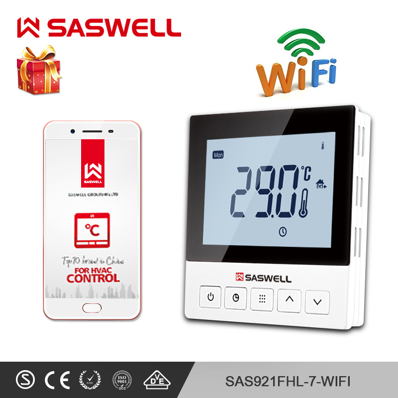 SASWELL WiFi Thermostat Temperature Controller Smartphone APPelectric Heating Thermostat Room  Programmable Thermoregulatort