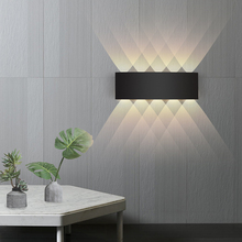 Wall-Light Stairs Garden Fence Bedside Bedroom Ip65 Led Living-Room Aluminum Outdoor Waterproof