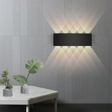Lampe murale étanche en aluminium IP65, rvb, pour l'extérieur, clôture de jardin, intérieur, à la mode, pour chambre à coucher, chevet, salon, escaliers