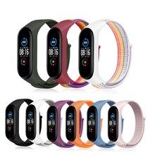 Nylon Strap für Xiaomi Mi band 6 4 3 5 Armband Armband Sport Atmungsaktive Armband Für Miband 6 5 4 3 ersatz Strap