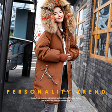SNOW PINNACLE 2019 women Long Parkas Winter Thicken Warm -25 degrees hooded outwear windproof jacket Coats plus size M-3XL