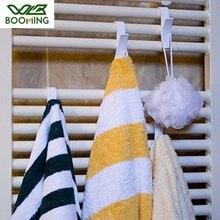 WBBOOMING 6Pcs Plastic Towel Hooks Home Small Bag Rack Bathroom Bath Bowl Towel Hook Door Towel Plastic Hanger Storage Organizer