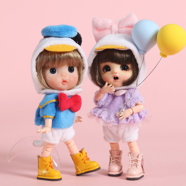 Nuovo 3pcs = shirt + underwear + Hat Anatra Vestito Vestiti per le Bambole per ob11, obitsu11, Molly, 1/12bjd bambola accessori di abbigliamento