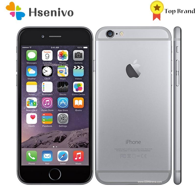 Apple Iphone 6 б/у (95% Новинка)-разблокированный оригинальный 4,7 ''IPS 1 ГБ ОЗУ 16/64/128 Гб ПЗУ GSM WCDMA LTE iPhone6 сотовый телефон