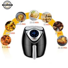 Electric Deep Fryer Air Fryer Digital LED Touch Screen Timer Temperature Control Power Air Fryer Eletric 3.5L 2.6L double pan(China)