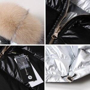 Image 5 - Куртка женская с воротником из натурального лисьего меха