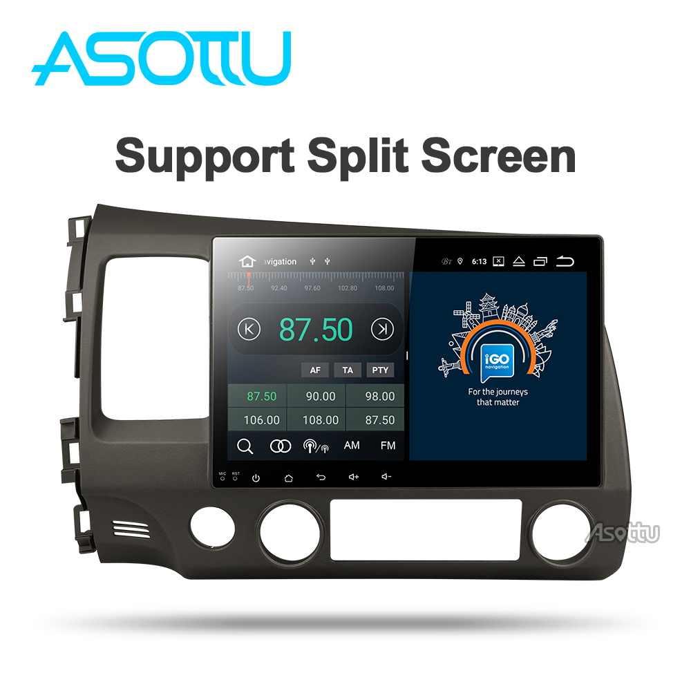 Asottu 2G android 9.0 PX30 car dvd gps player for honda civic 2006-2011 car radio video player gps navigation car  2 din dvd