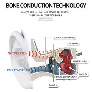 Image 3 - R11 Headphones Bluetooth 5.0 Bone Conduction Headsets Wireless Sports earphones Mic Handsfree Support Drop Shipping