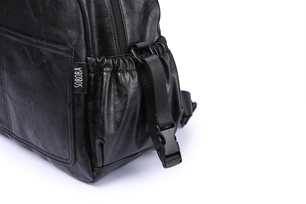H8facd68ef97a4da8ac622445a5e31dccd Fashion Maternity Nappy Changing Bag for Mother Black Large Capacity Fashion Diaper Bag with 2 Straps Travel Backpack for Baby