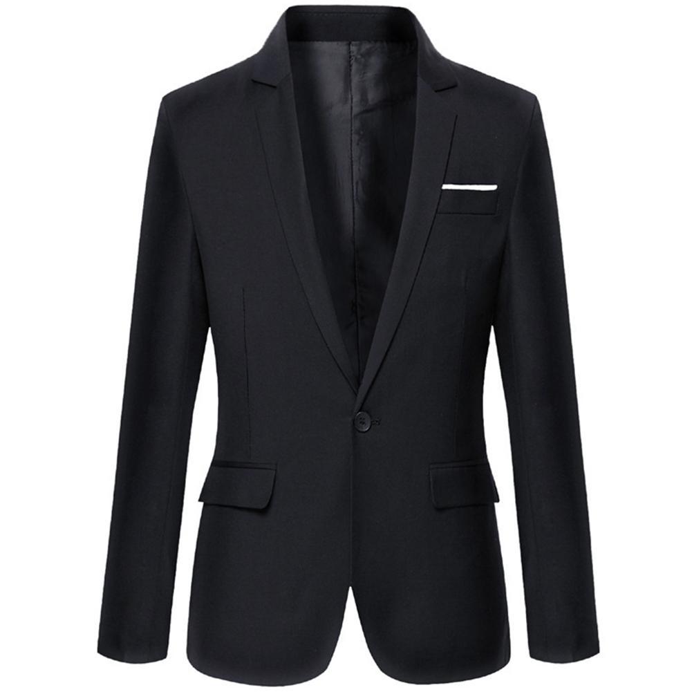 Men's Business Blazers Spring Autumn Formal Men's Coat Male Fashion Solid Color Blazer Long Sleeve Lapel Slim Fits платье пиджак