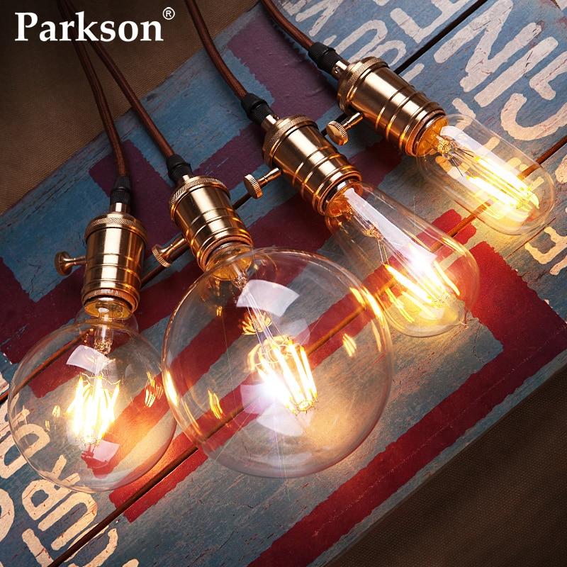 LED bougie ampoule E27 E14 220V 4W 6W 8W Vintage rétro lampe Filament ampoule C35 G45 ST64 G80 Bombillas Lampada LED Edison ampoule
