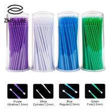 Microbrushes Eyelash Swab Extension-Tools Applicators Disposable 100pcs/Lot