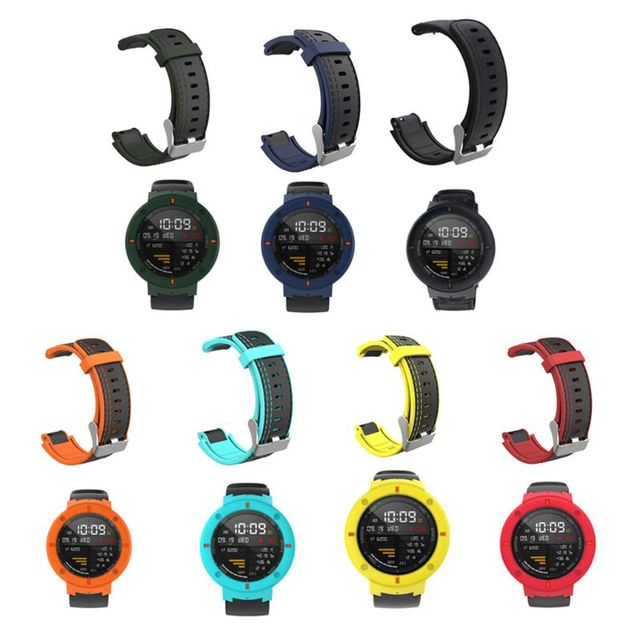 Silicone Watchband Wrist Strap Bracelet Anti Scratch Watch Protective Cover for Huami Amazfit Verge Smart Watch Accessories