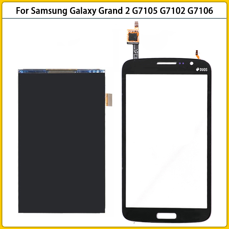 Новый сенсорный ЖК-экран G7106 для Samsung Galaxy Grand 2 G7102 G7106 G7105, ЖК-дисплей, сенсорная панель, дигитайзер, датчик + инструмент
