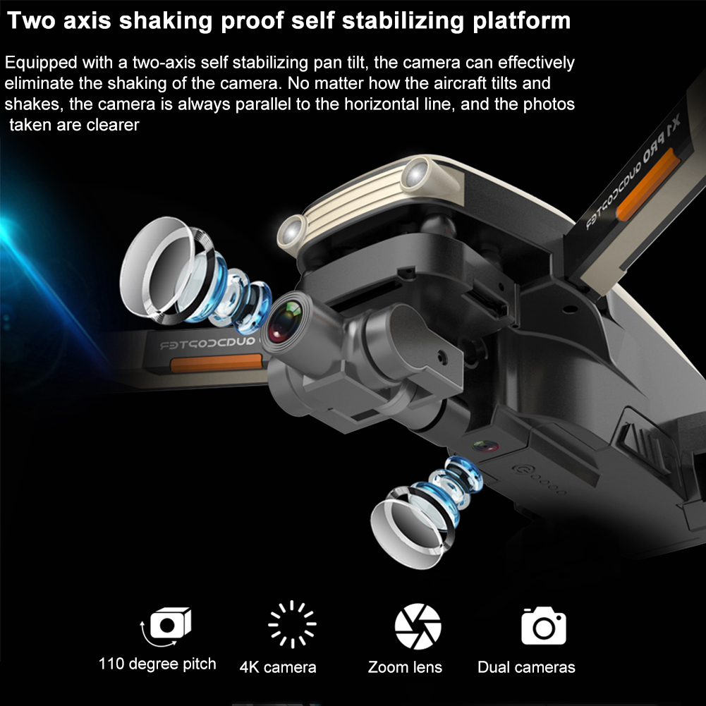 cheapest Optical Flow Positioning 2-axis Gimbal APP Control Indoor Outdoor With Camera Portable RC Drone 50 Times Zoom GPS Navigation
