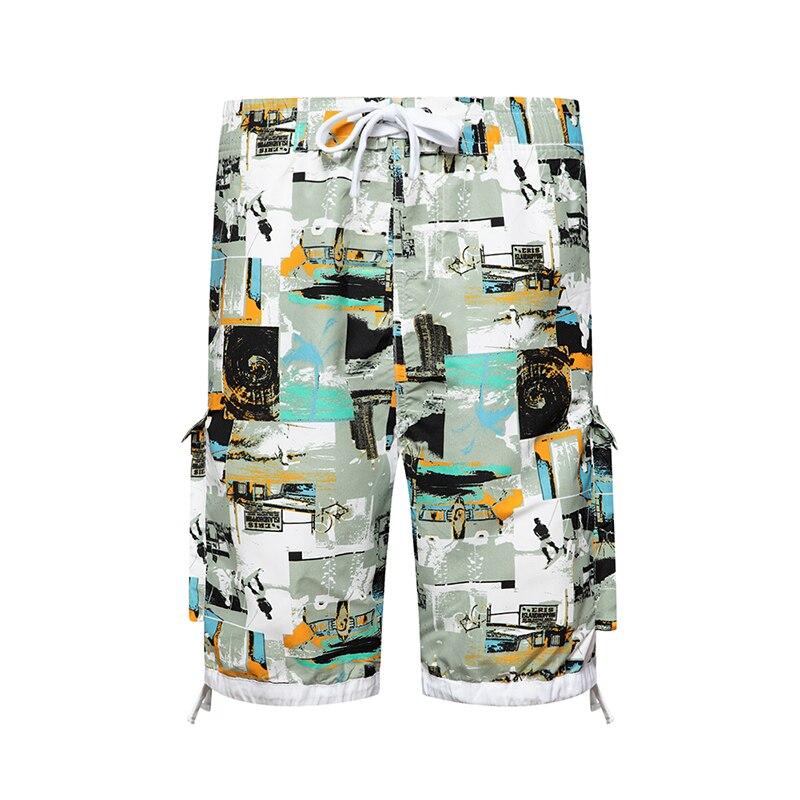 Mens Shorts Casual Shorts Men Drawstring Printed Male 2020 Streetwear Summer Fashion Men Shorts Cotton Beach