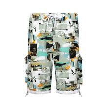 Mens Shorts Casual Shorts Men Drawstring Printed male 2020 Streetwear Summer Fashion Men Shorts Cotton Beach boxed pleated grommet drawstring shorts