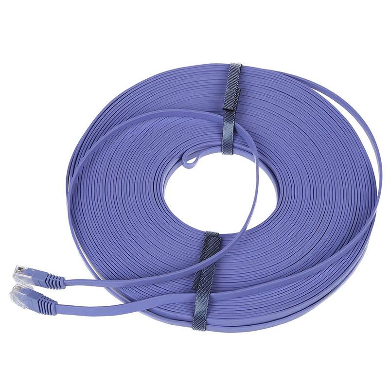 98FT 30M CAT6 CAT 6 Flat UTP Ethernet Network Cable RJ45 Patch LAN Cord Blue