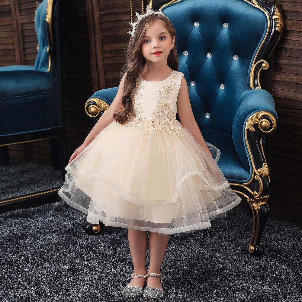 Girls Lace Dress Kids Dresses Princess Party Ball Gown Children Clothing Wear