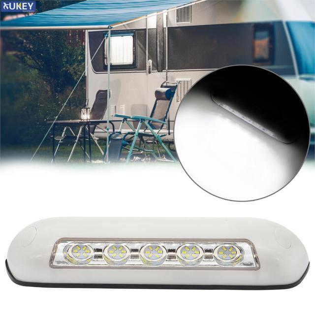 مقاوم للماء 12 فولت RV LED المظلة الشرفة ضوء IP67 الخارجية الداخلية الجدار مصباح إضاءة البار العالمي لقارب قافلة منخفضة الطاقة Consuption