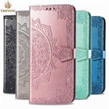 Tłoczenie skórzany portfel etui do Samsung Galaxy Note 8 9 10 Lite uwaga 20 Ultra M10 M20 M30S M40 M21 M31S gniazda kart odwróć pokrywa