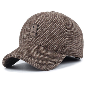 2019 new baseball cap winter dad hat warm Thickened cotton  caps Ear protection fitted hats for men