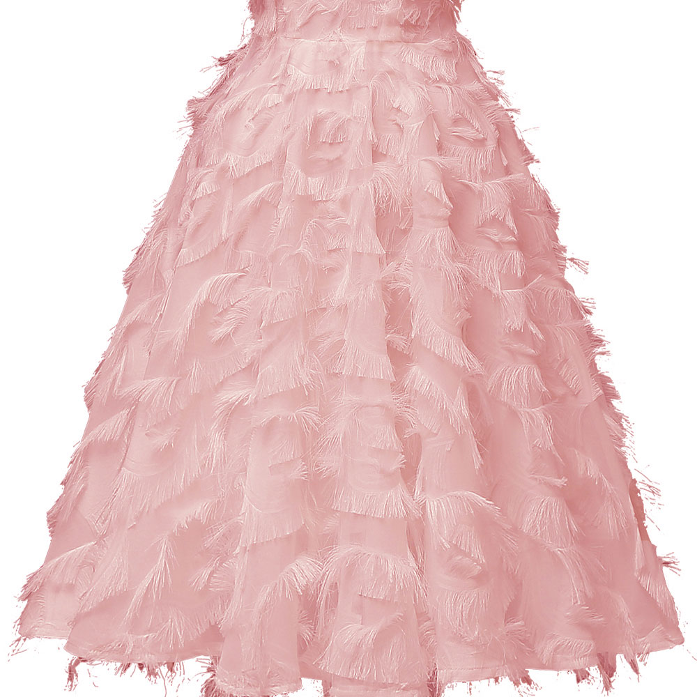 Pink Short Evening Dress 2019 Tassel robe de soiree A line Formal Dress Party Elegant Sleeveless Evening Gown For Women in Evening Dresses from Weddings Events