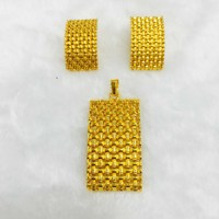 Yulaili Classic Rhinestone Turkey Square Pendant Necklace Earrings Dubai Jewelry Sets for Women Party Wedding Accessories