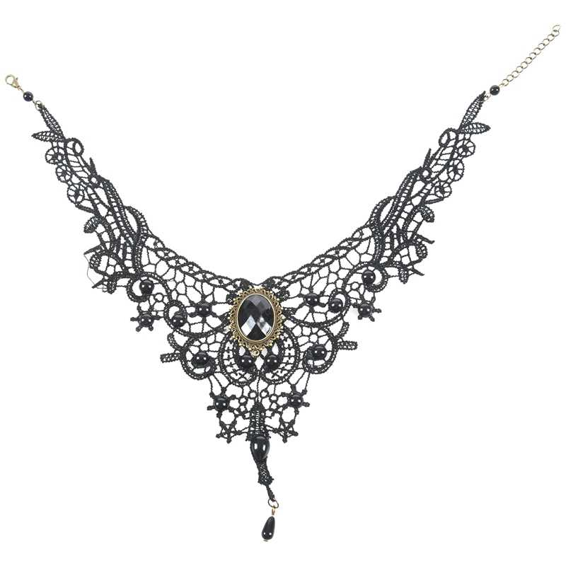 steampunk room decor.htm hot xd gothic victorian black lace choker necklace metal cameo  black lace choker necklace metal cameo