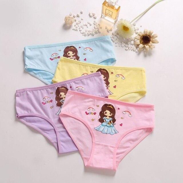 Mädchen Höschen 4 Stück Kinder Baumwolle Unterwäsche Mädchen Cartoon Höschen für Kinder 2-12 Jahre 6