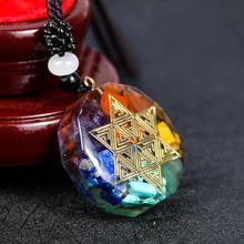 Metatron Cube Orgonite Necklace Sacred Geometry Resin Pendant Flower of Life Cosmic Energy Center Sign Pendant Necklace Magic
