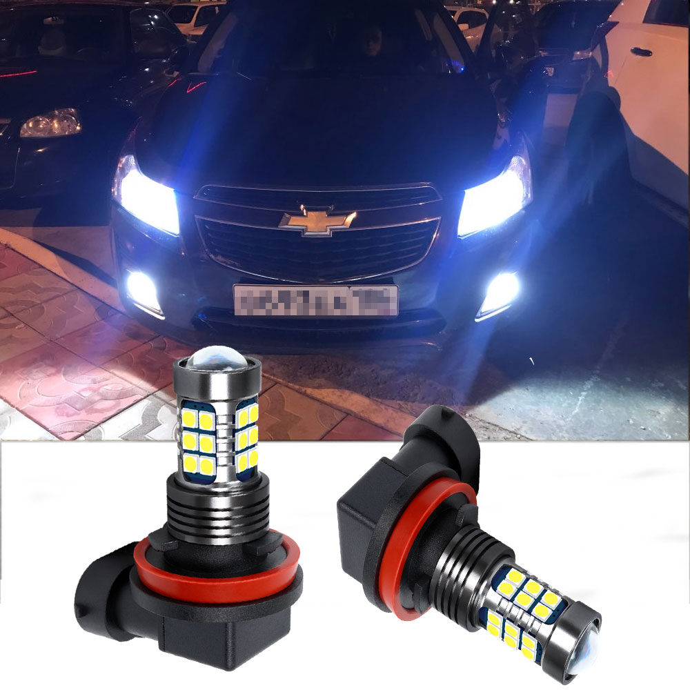 H11 H8 LED Fog Light Bulb For Chevrolet Captiva Aveo Lacetti Spark Cruze 2011 Niva Orlando Driving Running Lamp Auto LED Light