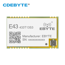 E43 433T13S3 UART 433mhz אלחוטי משדר RSSI 20mW IPEX חותמת חור IoT uhf SMD משדר מקלט RF מודול