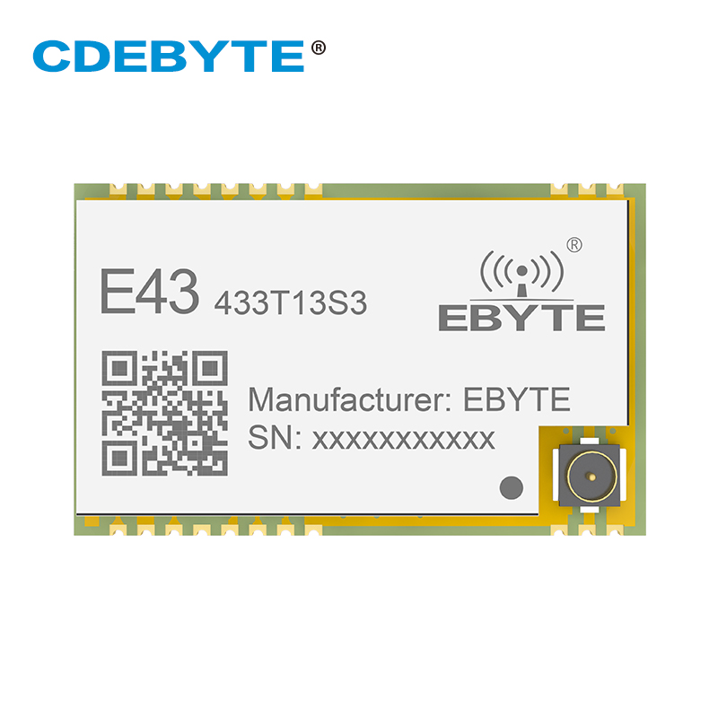 E43-433T13S3 UART 433mhz Wireless Transceiver RSSI 20mW IPEX Stamp Hole IoT Uhf SMD Transmitter Receiver RF Module