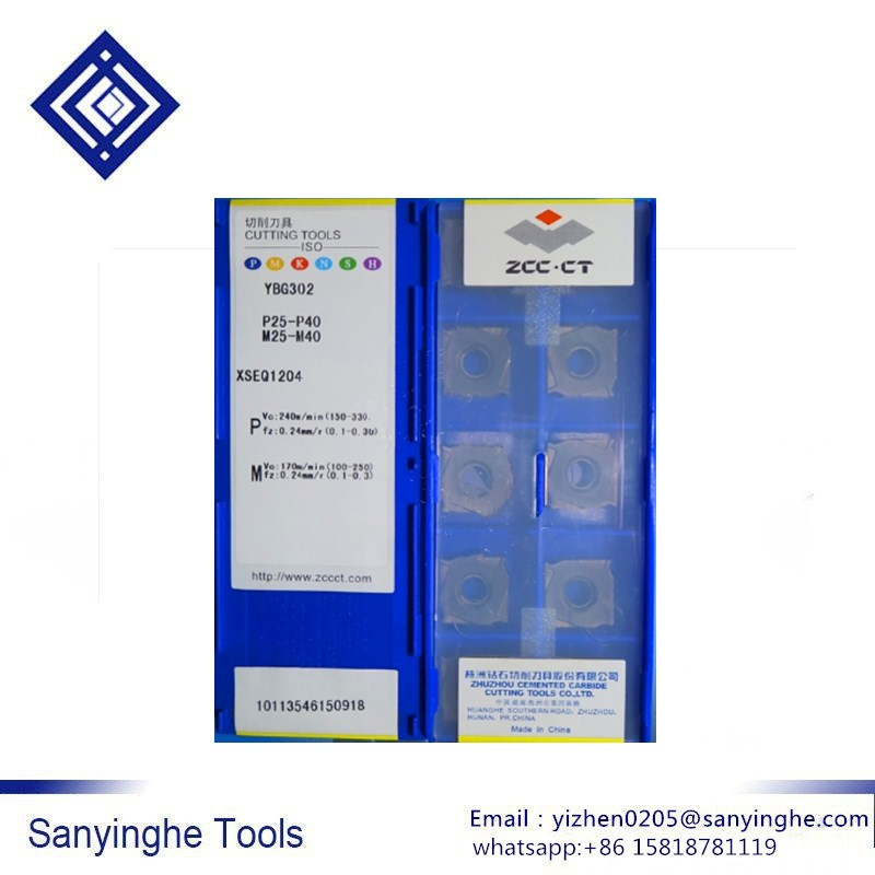 ZCC.CT 30 Pcs/box YBG302 XSEQ1204 Cnc Carbide Milling Inserts Cnc Blade Face And Side Cutter SMP01