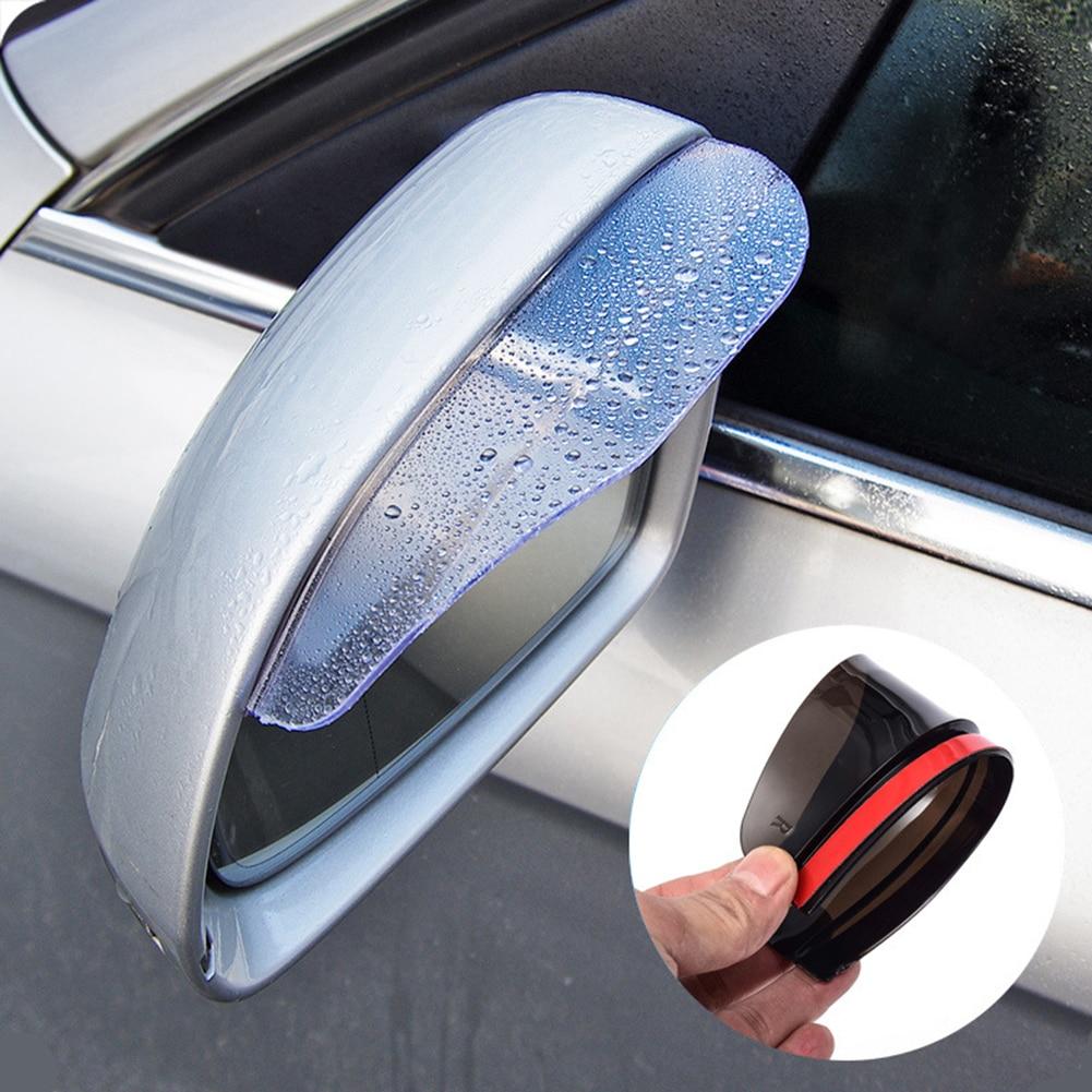 2Pcs Car Rearview Mirror Rain Eyebrow Auto Car Rear View Side Rain Shield Snow Guard Sun Visor Shade Protector