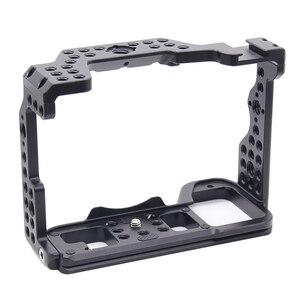 Image 1 - A7R4 Cage Pro A7R IV Cage de caméra pour Sony A7R Mark IV caméra avec 1/4 3/8 trou de filetage poignée supérieure Microphone Flash alliage léger fait