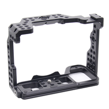 A7R4 Cage Pro A7R IV Camera Cage for Sony A7R Mark IV Camera W/ 1/4 3/8 Thread Hole Top handle Microphone Flash Light Alloy Made