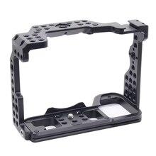 Caja de cámara A7R4 Cage Pro A7R IV para cámara Sony A7R Mark IV con orificio roscado 1/4 3/8, manija superior, micrófono, aleación de luz de Flash hecha