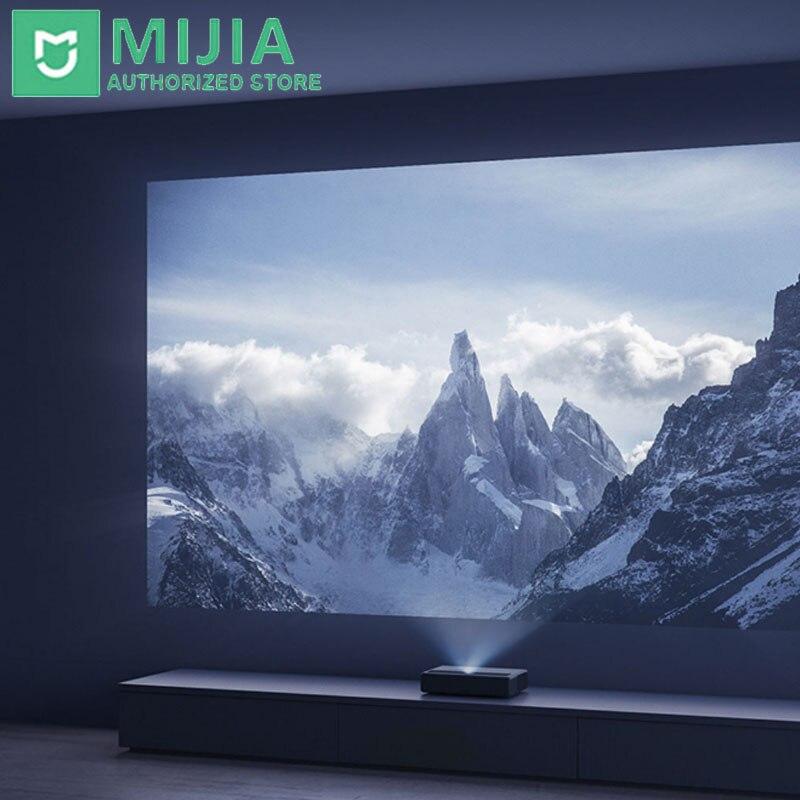 Xiaomi Mijia lazer projeksiyon TV 4K sinema lazer projektör 2000 ANSI lümen hiçbir ekran TV uluslararası sürüm