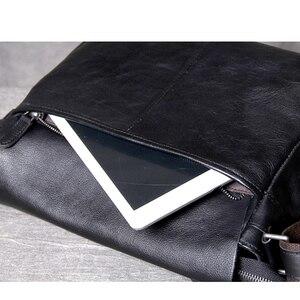 Image 4 - AETOO คลาสสิกหัว cowhide ชาย Postman Bag กระเป๋าหนังไหล่ Crossbody กระเป๋า