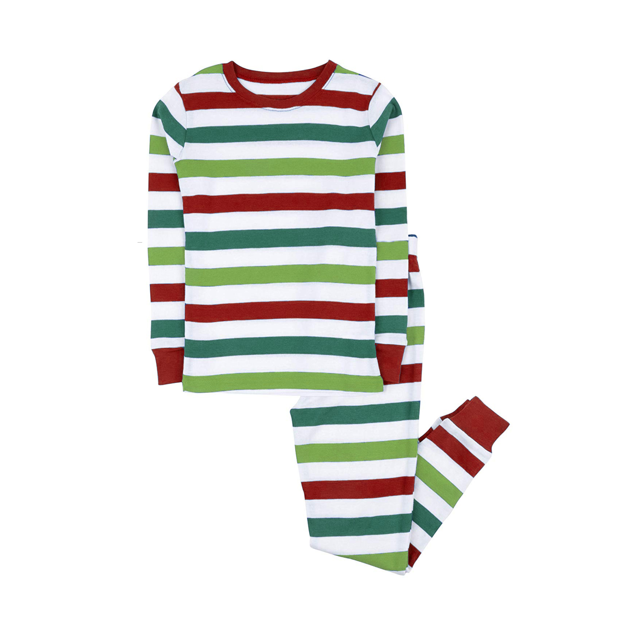 100% cotton boys and girls Christmas stripe pajamas kids sleepwear children pyjamas clothes 1