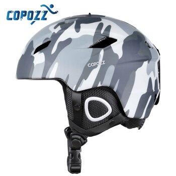 Легкий лыжный шлем COPOZZ 2020 с сертификатом безопасности, цельнолитой шлем для сноуборда, езды на велосипеде, катания на лыжах, снега для мужчи...