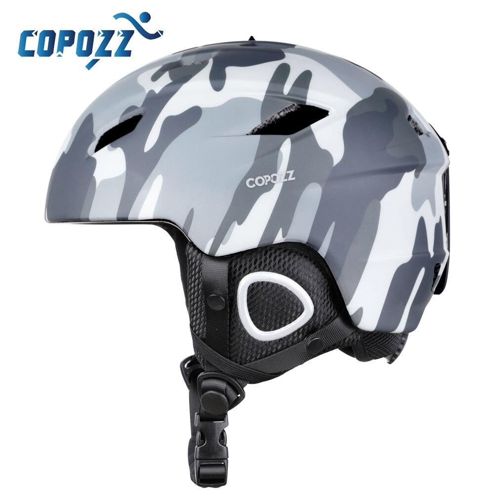 Copozz 2019 luz capacete de esqui com certificado de segurança integralmente moldado capacete de snowboard ciclismo esqui neve dos homens das mulheres criança crianças