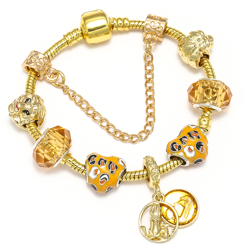 BAOPON Прямая поставка винтажные Подвески серебряного цвета браслеты для женщин DIY Кристальные бусины изящные браслеты для женщин Pulseira ювелирные изделия - Окраска металла: Type 10