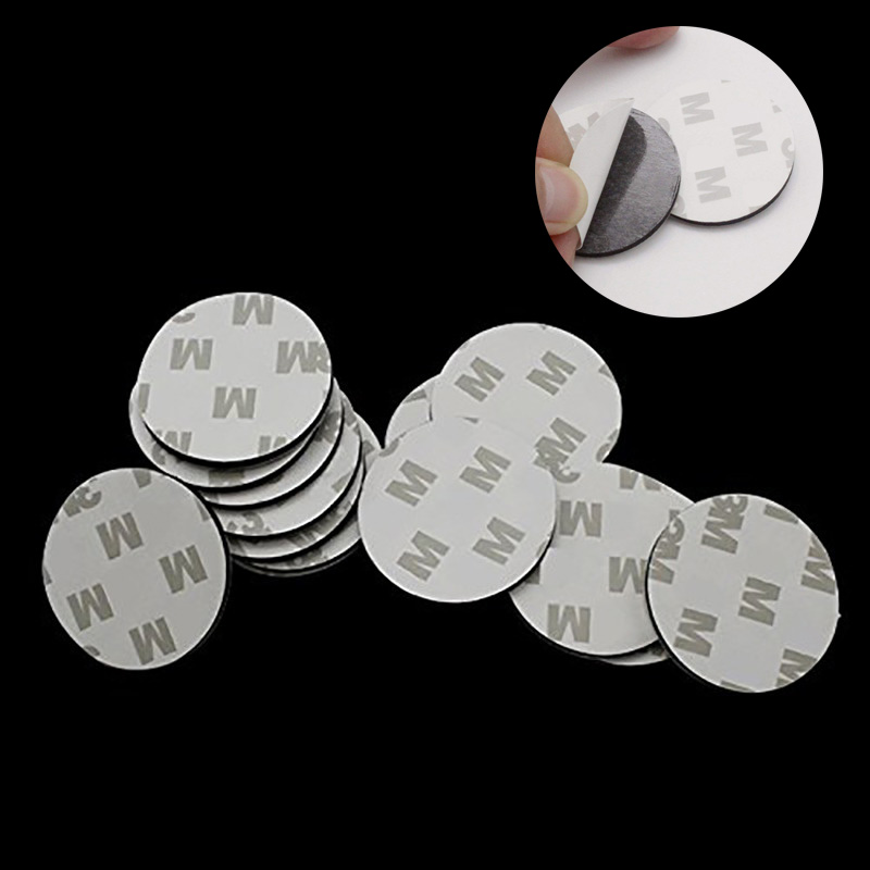 60pcs Double Side Round Car Magnetic For Sticker Holder Pad Adhesive Degree 360 Universal Sticky Tap Mount Base